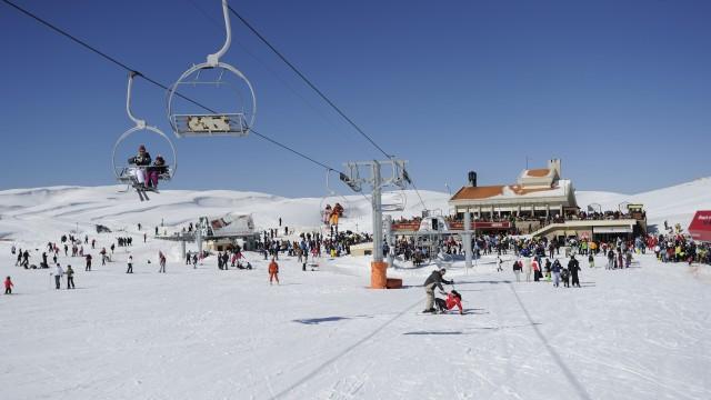 Ski lift at Mzaar