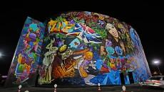O1NE's graffiti façade