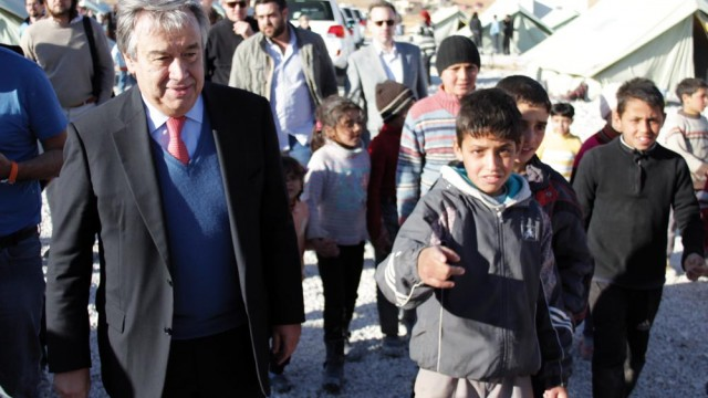 UN High Commissioner for Refugees Antonio Guterres in Lebanon