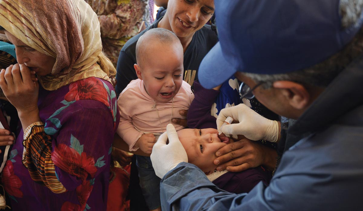 International bodies have carried out mass vaccination campaigns (Credit: UNICEF)