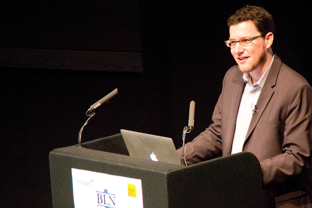 This is an image of Eric Ries at the London Lean Startup conference. Flickr|betsyweber