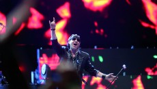 Klaus Meine, lead vocalist of the rock band Scorpions at the 2013 Byblos music festival