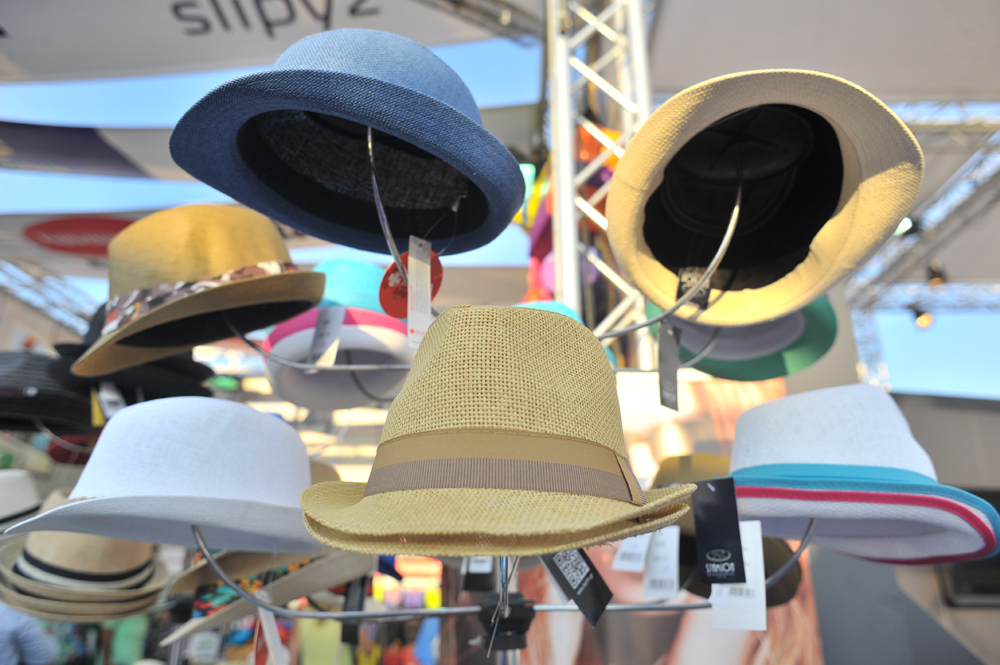 One cannot sail without a proper hat. Some items related to boats and sailing were sold at the boat show