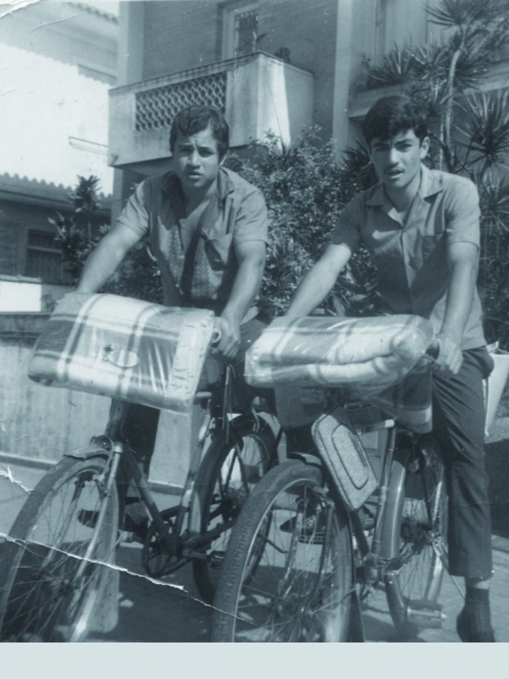 Lebanese peddlers on bicycles in Sao Paulo, Brazil 1960 LERC Archives, Roberto Khatlab Collection
