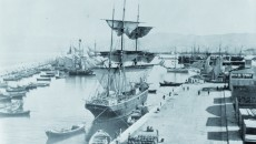 Photo of Beirut Port with ships used for migration, LERC Archives