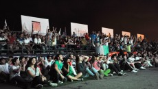 World Cup at Beirut Fan Park Italy vs England
