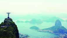 Shot of the Christ the Redeemer monument in Rio de Janeiro, Brazil