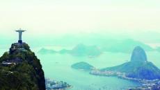 Shot of the Christ the Redeemer monument in Rio de Janeiro, Brazil
