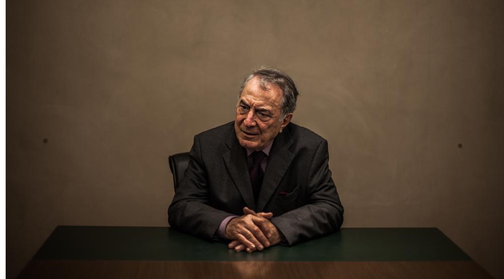 Francisco Rezek in his law office in Sao Paulo, Brazil. 5 June 2014.