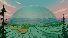 "Dome over Springfield, from ""The Simpsons Movie"""