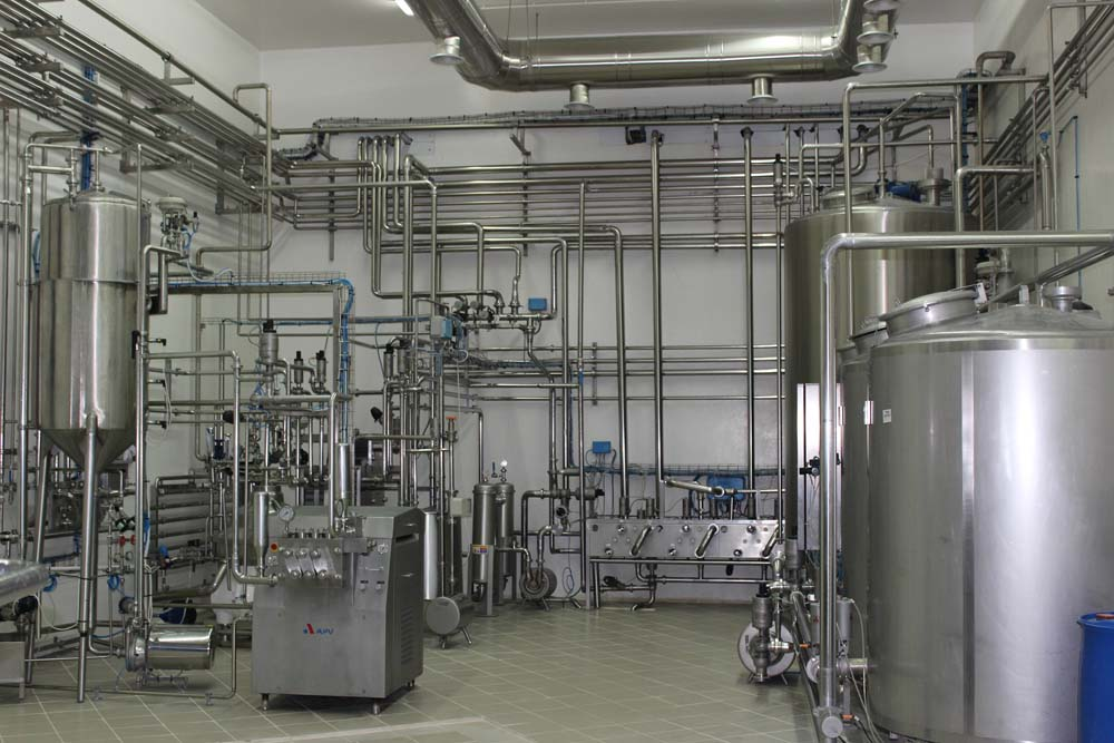 Part of Khoury Dairy's production facilities