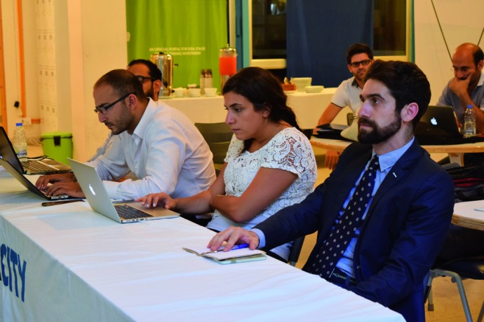 David Munir Nabti (R) sits on panel at AltCity's Bootcamp