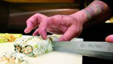 According to restaurant owners interviewed for the article, Lebanon follows the style of sushi made popular in California, with salmon-based makis being the most popular items on the menu. Meanwhile, authentic Japanese sushi is centered on sushi and sashimi.