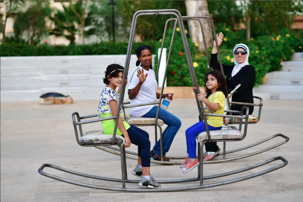 Bokja Design's interactive swing is a popular piece among playful groups | Photo: Greg Demarque